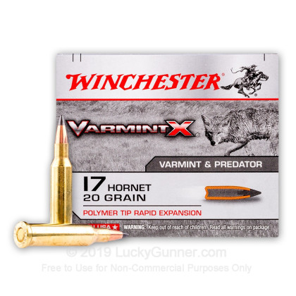 Image 2 of Winchester .17 Hornet Ammo