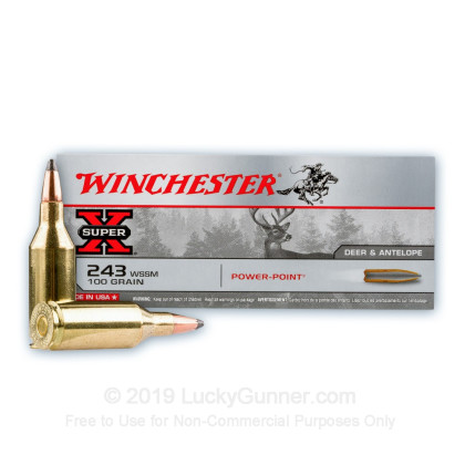 Image 2 of Winchester .243 WSSM Ammo