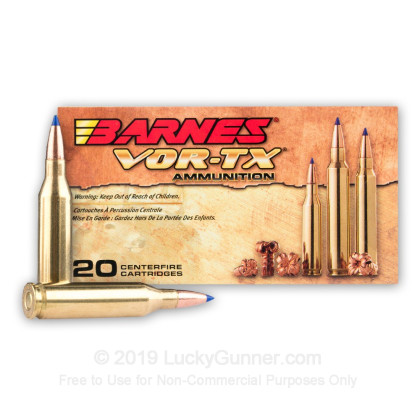 Large image of 243 Win - 80 gr Lead Free TTSX Hollow Point Barnes VOR-TX Ammunition - Barnes - 20 Rounds