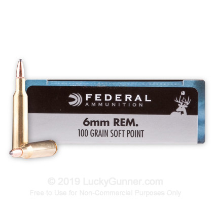 Image 1 of Federal 6mm Remington Ammo