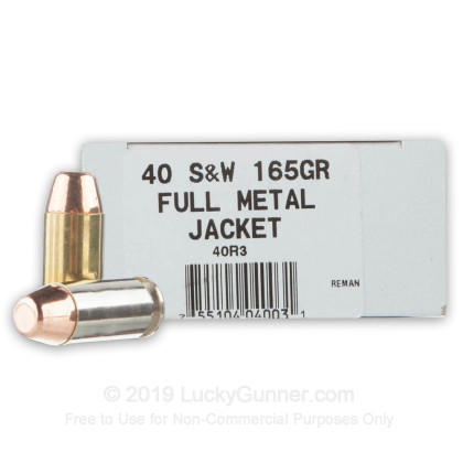 40 S&W - 165 Grain FMJ - Ultramax Remanufactured - 500 Rounds