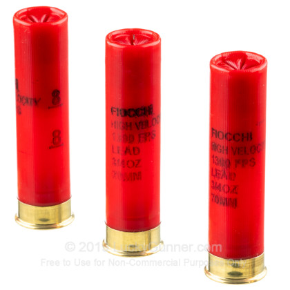 """Large image of Cheap 28 Gauge Ammo For Sale - 2-3/4"""" 3/4oz. #8 Shot Ammunition in Stock by Fiocchi - 25 Rounds"""