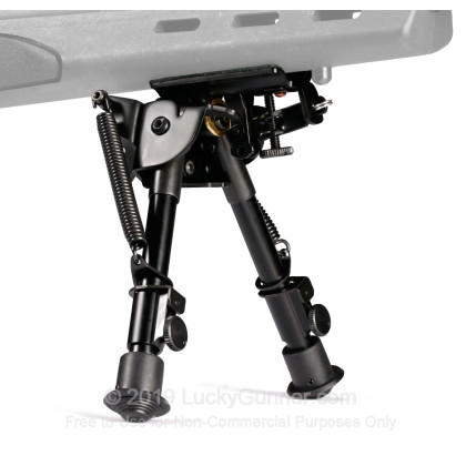 Large image of Blackhawk Sportster Pivot Bipod with Adjustable Height - Matte Black Rifle Bipod Available in a Variety of Heights
