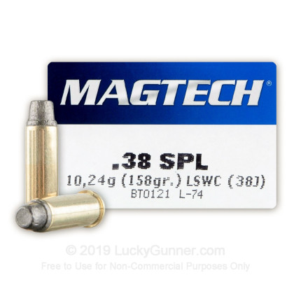 38 Special - 158 gr LSWC - Magtech - 50 Rounds