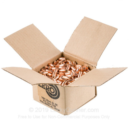 "Large image of Premium 9mm (.355"") Bullets for Sale - 147 Grain JHP Bullets in Stock by Zero Bullets - 500 Projectiles"