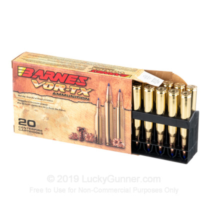 Large image of 270 Win - 130 gr Lead Free TTSX Hollow Point Barnes VOR-TX Ammunition - Barnes - 20 Rounds