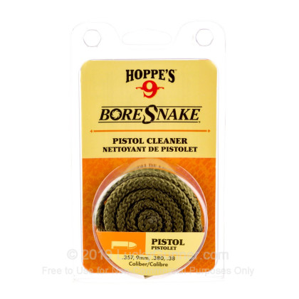 Large image of Hoppe's BoreSnakes for Sale - .380, .38, 9mm, .357 caliber - Hoppe's BoreSnake For Sale