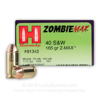 Image 1 of Hornady .40 S&W (Smith & Wesson) Ammo
