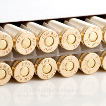 Large image of Cheap 270 Win Ammo In Stock  - 130 gr Prvi Partizan SP Ammunition For Sale Online - 20 Rounds