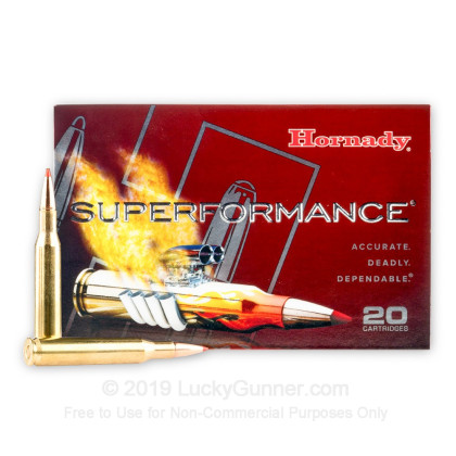 Large image of Cheap 270 Win Ammo In Stock  - 130 gr GMX Polymer Tip Hornady Superformance Ammunition For Sale Online - 20 Rounds