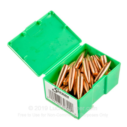 "Large image of Premium 338 Caliber (.338"") Bullets For Sale - 300 Grain HPBT Bullets in Stock by Sierra MatchKing - 50 Projectiles"