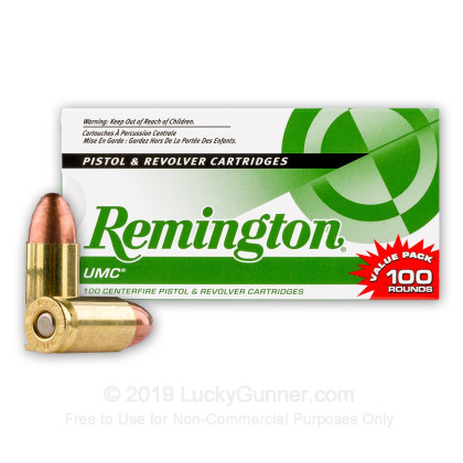 9mm - 115 Grain MC - Remington UMC - 100 Rounds