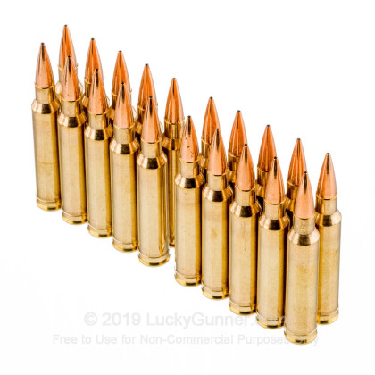 308 Norma Magnum - 168 Grain Berger Hunting VLD - HSM Trophy Gold Ammo - 20  Rounds