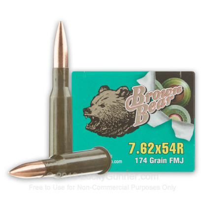 Image 1 of Brown Bear 7.62x54r Ammo