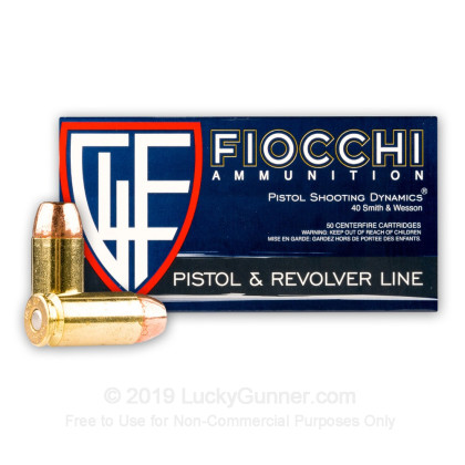 Large image of Bulk 40 S&W Ammo For Sale - 165 Grain CMJTC Ammunition in Stock by Fiocchi - 1000 Rounds
