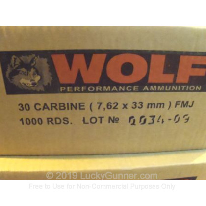 Image 3 of Wolf 30 Carbine Ammo