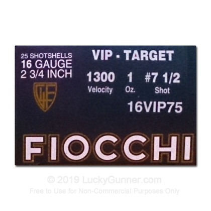 Large image of Bulk 16 Ga Fiocchi #7.5 Target Ammo For Sale - Fiocchi Premium Exacta 16 Ga Shells - 250 Rounds