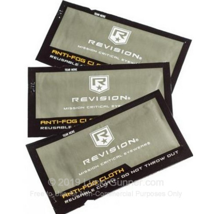 Large image of Revision Anti Fog Cloths -  Revision Glass Cleaning Cloths in Foil Packets For Sale