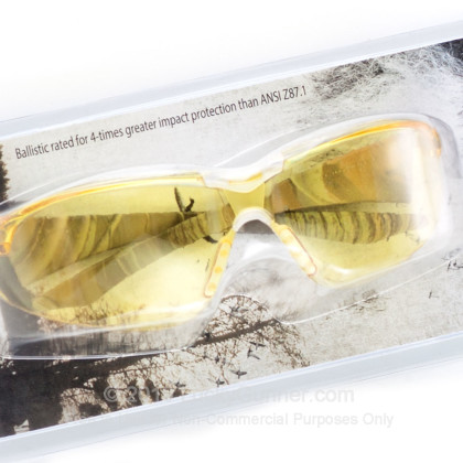 Large image of Duck Commander Amber Lens Camo Frame Shooting Glasses For Sale - 55631 - Ballistic Glasses in Stock