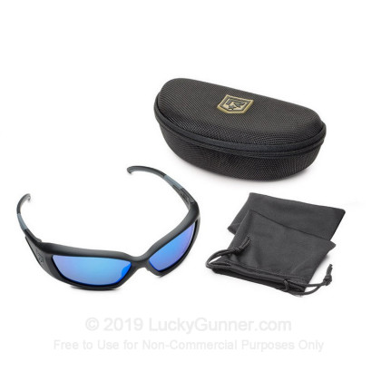 Large image of Revision Hellfly Ballistic Glasses -  Hellfly Ballistic Eyewear with Black Frame and Midnight Mirror Lenses For Sale