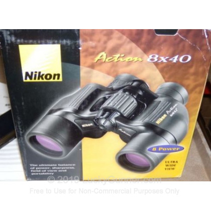 Large image of Binoculars For Sale - 8x40mm Poro Prism Black Nikon Action Binoculars in Stock