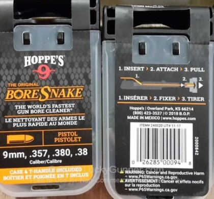 Large image of Hoppe's BoreSnake for Sale - .380-.357 Caliber - Hoppe's BoreSnake for Sale