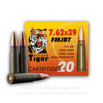 Image 1 of Golden Tiger 7.62X39 Ammo