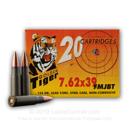 Image 4 of Golden Tiger 7.62X39 Ammo