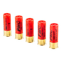 """12 ga Ammo For Sale - 2-3/4"""" 00 Buck 9 Pellet Ammunition by PMC - 5 Rounds"""