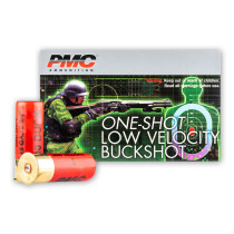"""LE 12 ga Ammo For Sale - 2-3/4"""" 00 Buck Low Velocity 9 Pellet Ammunition by PMC - 5 Rounds"""