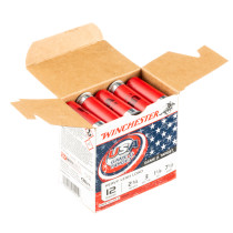 """Cheap 12 Gauge Ammo For Sale - 2-3/4"""" 1-1/8oz. #7.5 Shot Ammunition in Stock by Winchester USA Game & Target - 25 Rounds"""
