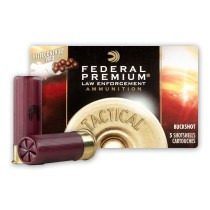 """Premium 12 Gauge Ammo For Sale - 2-3/4"""" 00 Buck Ammunition in Stock by Federal LE Tactical - 5 Rounds"""