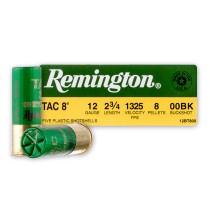 "Cheap 12 Gauge Ammo For Sale - 2-3/4"" 00 Buck Ammunition by Remington - 5 Rounds"