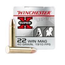 22 WMR Ammo For Sale - 40 gr FMJ - Winchester 22 Magnum Rimfire Ammunition In Stock - 50 Rounds