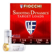 "Cheap 12 ga Target Shells For Sale - 2-3/4"" 1 oz #8 Target Shell Ammunition by Fiocchi - 25 Rounds"