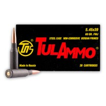 5.45x39 Ammo For Sale | 60 gr FMJ Ammunition In Stock by Tula
