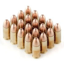 Premium 9mm Ammo For Sale - 115 Grain FMJ Ammunition in Stock by Black Hills - 20 Rounds