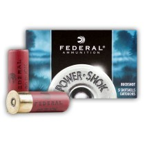 """Premium 12 ga Ammo For Sale - 2-3/4"""" 00 Buck Ammunition by Federal Power Shok - 5 Rounds"""