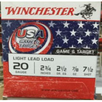 """Cheap 20 Gauge Ammo For Sale - 2-3/4"""" 7/8oz. #7.5 Shot Ammunition in Stock by Winchester USA Game & Target - 25 Rounds"""