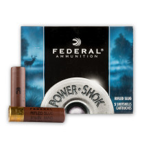 """Cheap 10 Gauge Ammo For Sale - 3-1/2"""" 1-3/4oz. Rifled Hollow Point Slug Ammunition in Stock by Federal Power-Shok - 5 Rounds"""