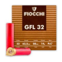 "Cheap 32 Gauge Ammo - 2-1/2"" Small Game Loads - 1/2 oz - #8 Fiocchi - 25 Rounds"