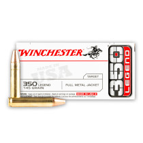 Cheap 350 Legend Ammo For Sale - 145 Grain FMJ Ammunition in Stock by Winchester USA - 20 Rounds