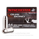 Premium 44 Mag Ammo For Sale - 240 Grain Bonded Dual Jacket Ammunition in Stock by Winchester Dual Bond - 20 Rounds