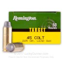 Bulk 45 Long Colt Ammo For Sale - 225 Grain LSWC Ammunition in Stock by Remington Target - 500 Rounds