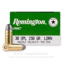38 Special - 158 Grain LRN - Remington UMC - 50 Rounds