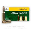 222 Rem Ammo For Sale - 50 gr SP Ammunition In Stock by Sellier & Bellot