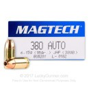 380 Auto Defense Ammo In Stock - 95 gr JHP - 380 ACP Ammunition by Magtech For Sale - 50 Rounds