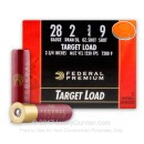 Cheap 28 Ga Federal #9 Lead Shot Target Ammo For Sale - Federal Premium 28 Ga Shells - 25 Rounds