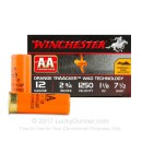 """Cheap 12 Gauge Ammo For Sale - 2-3/4"""" 1-1/8 oz. #7.5 Shot Ammunition in Stock by Winchester AA Tracker - 25 Rounds"""