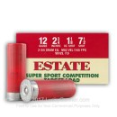 "Cheap 12 Gauge Ammo - 2-3/4"" Lead Shot shells - Estate Super Sport Competition Target Loads #7-1/2 - 25 Rounds"
